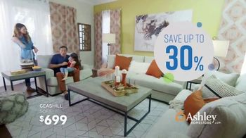 Ashley HomeStore Columbus Day Sale TV Spot, 'Geashill Sofa and Jeanette Rectangular Dining Table' - Thumbnail 4