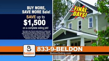 Beldon Siding Buy More, Save More Sale TV Spot, 'Large Hail, Damaging Wind and Extreme Heat' - Thumbnail 6