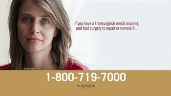 Goldwater Law Firm TV Spot, 'Transvaginal Mesh Implants Can Cause Serious Injuries!' - Thumbnail 2