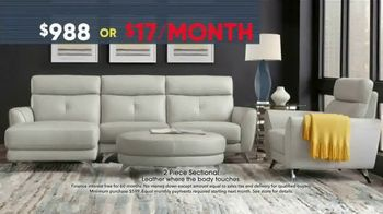 Rooms to Go Memorial Day Sale TV Spot, 'Two-Piece Leather Sectional' - Thumbnail 4