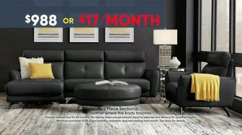 Rooms to Go Memorial Day Sale TV Spot, 'Two-Piece Leather Sectional' - Thumbnail 5