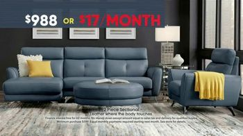 Rooms to Go Memorial Day Sale TV Spot, 'Two-Piece Leather Sectional' - Thumbnail 6