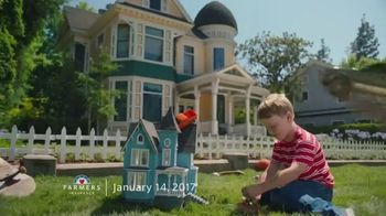 Farmers Insurance TV Spot, 'Parking Splat, Fly-By Ballooning, Rooftop Parking and Hit & Drone' - Thumbnail 6