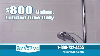 Safe Step Walk-In Tub TV Spot, 'Shower Package Upgrade' - Thumbnail 3