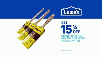 Lowe's TV Spot, 'Paint It Right: Purdy Brushes' - Thumbnail 9