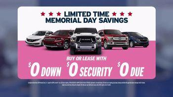 AutoNation Super Zero Event TV Spot, 'Limited Time Memorial Day Savings'