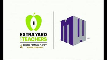 College Football Playoff Foundation TV Spot, 'Extra Yard for Teachers: It Only Takes One' - Thumbnail 1