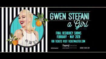 Gwen Stefani Just a Girl TV Spot, '2020 Las Vegas: Zappos Theater'