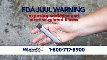 Cory Watson Law TV Spot, 'Juul E-Cigarette Warning'