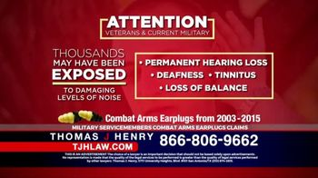 Thomas J. Henry Injury Attorneys TV Spot, 'Combat Arms Earplugs'