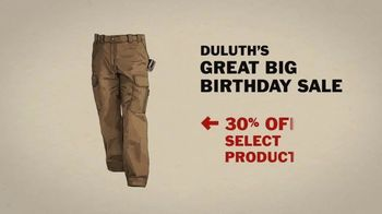 Duluth Trading Company Great Big Birthday Sale TV Spot, '30 Percent Off' - Thumbnail 4