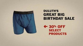 Duluth Trading Company Great Big Birthday Sale TV Spot, '30 Percent Off' - Thumbnail 5