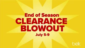 Belk End of Season Clearance Blowout TV Spot, 'Tees, Shorts and Knits'
