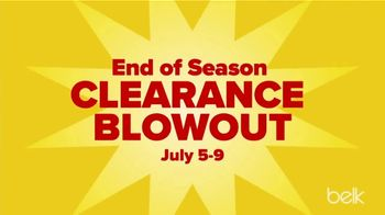 Belk End of Season Clearance Blowout TV Spot, 'Tops, Dresses and Shorts'