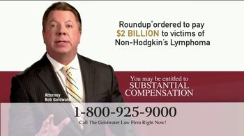 Goldwater Law Firm TV Spot, 'Attention: Non-Hodgkin's Lymphoma' - Thumbnail 4
