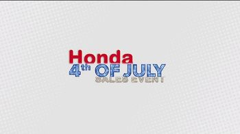 Honda 4th of July Sales Event TV Spot, 'Get Ready for Clearance' [T2] - Thumbnail 6