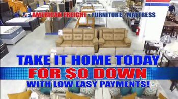 American Freight Red Hot Savings TV Spot, 'Zero Down: Mattresses and Sectionals'