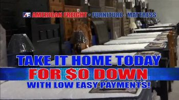 American Freight Red Hot Mattress Savings TV Spot, 'Zero Down' - Thumbnail 3