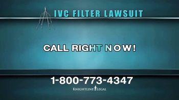 Knightline Legal TV Spot, 'IVC Filter Warning' - Thumbnail 4