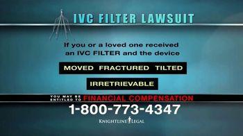 Knightline Legal TV Spot, \'IVC Filter Warning\'