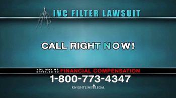 Knightline Legal TV Spot, 'IVC Filter Warning' - Thumbnail 7
