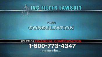 Knightline Legal TV Spot, 'IVC Filter Warning' - Thumbnail 8