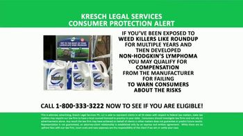 Kresch Legal Services TV Spot, 'Roundup Weedkiller Exposure' - Thumbnail 1