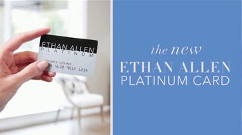 Ethan Allen 4th of July Sale TV Spot, 'New Platinum Card'