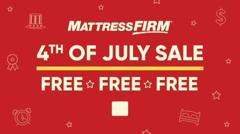 Mattress Firm 4th of July Sale TV Spot, 'Extended: Free, Free, Free Event' - Thumbnail 1