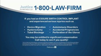 1-800-LAW-FIRM TV Spot, 'Essure Birth Control Implant' - Thumbnail 4