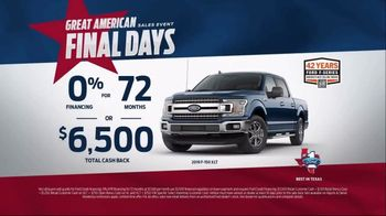 Ford Great American Sales Event TV Spot, 'Spirit of Independence'  [T2] - Thumbnail 7