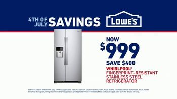 Lowe's July 4th Savings TV Spot, 'Happy Hunting: Whirlpool Refrigerator' - Thumbnail 8