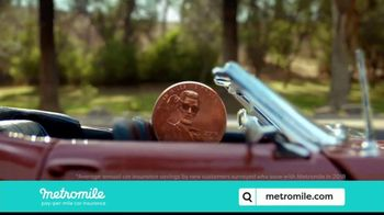 Metromile  Pay-Per-Mile Car Insurance TV Spot, 'Pay Pennies Per Mile, People' - 424 commercial airings