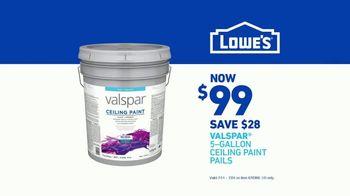 Lowe's TV Spot, 'Paint It Right: Valspar Ceiling Paint' - Thumbnail 6