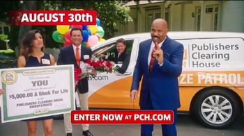 Publishers Clearing House TV Spot, '$5,000 a Week for Life: Last Chance' Featuring Steve Harvey - 1380 commercial airings