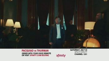 XFINITY TV Spot, 'World Welterweight Championship: Pacquiao vs. Thurman' - 62 commercial airings