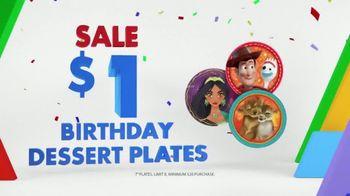 Party City TV Spot, 'Birthday Dessert Plates'