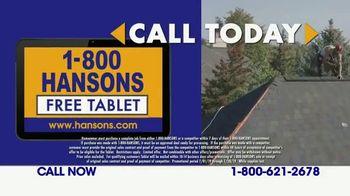 1-800-HANSONS TV Spot, 'Fireworks: Hail-Resistant Roofing' - Thumbnail 5