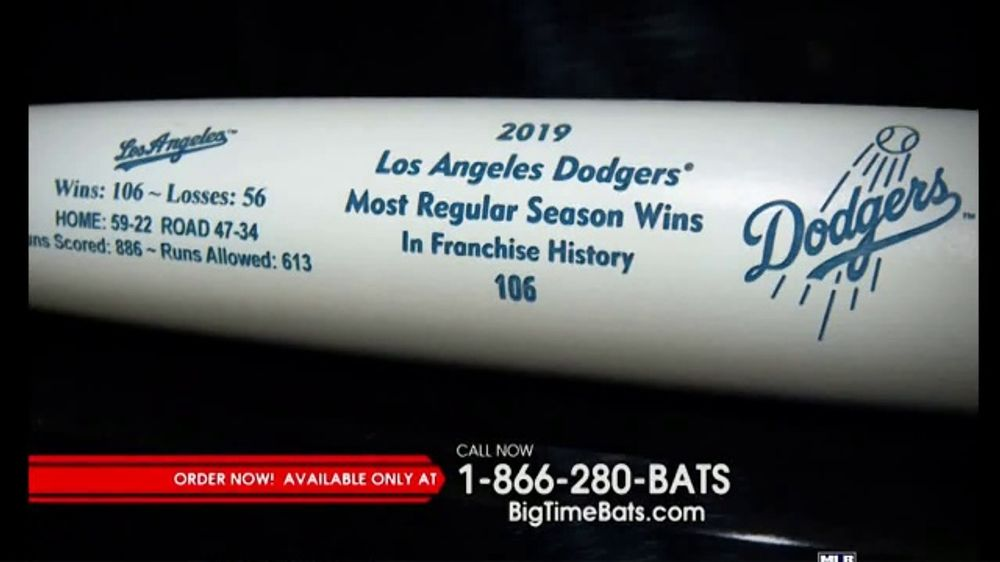 Big Time Bats TV Commercial, '2019 Los Angeles Dodgers Most Regular Season Wins'