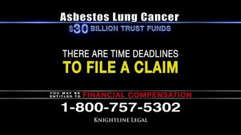 Knightline Legal TV Spot, 'Asbestos Lung Cancer: Cash Award' - Thumbnail 10