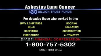 Knightline Legal TV Spot, 'Asbestos Lung Cancer: Cash Award' - Thumbnail 6