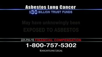Knightline Legal TV Spot, 'Asbestos Lung Cancer: Cash Award' - Thumbnail 7