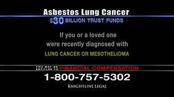 Knightline Legal TV Spot, 'Asbestos Lung Cancer: Cash Award' - Thumbnail 8