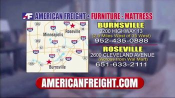 American Freight Semi-Annual Sale TV Spot, 'Dining Sets, Mattress and Recliners' - Thumbnail 8