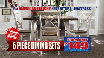 American Freight Semi-Annual Sale TV Spot, 'Dining Sets, Mattress and Recliners' - Thumbnail 2