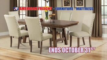 American Freight Semi-Annual Sale TV Spot, 'Take It Home Today for $50: Mattress Sets & Dining Sets' - Thumbnail 10