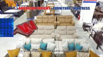 American Freight Semi-Annual Sale TV Spot, 'Take It Home Today for $50: Mattress Sets & Dining Sets' - Thumbnail 3