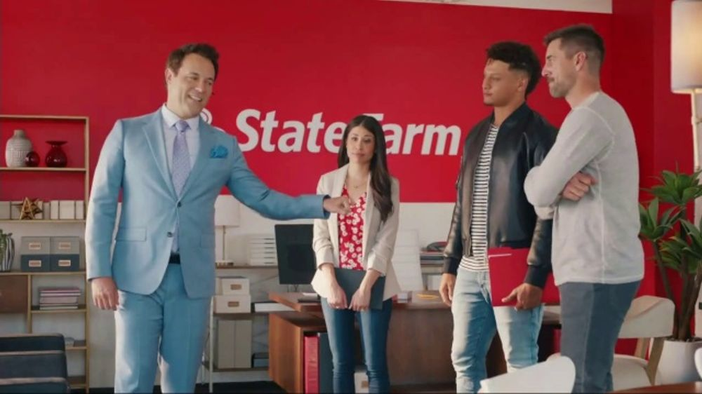 State Farm Tv Commercial Punny Featuring Aaron Rodgers Patrick Mahomes Ispot Tv