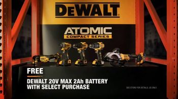 The Home Depot DeWalt ATOMIC TV Spot, 'More Compact' - Thumbnail 7