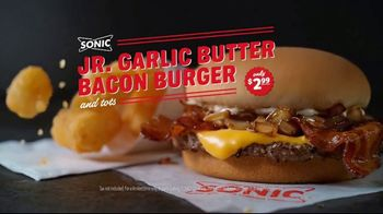 Sonic Drive-In Jr. Garlic Butter Bacon Burger TV Spot, 'Buttering Me Up' - Thumbnail 7